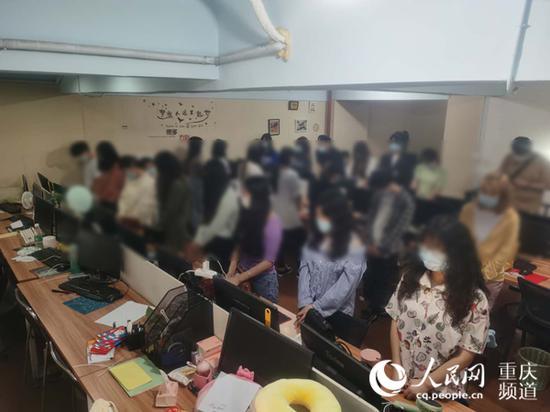 抓捕现场。重庆市公安局供图