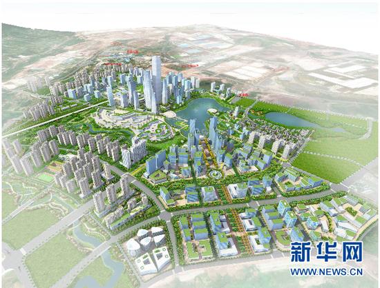 中新国际新城规划图.