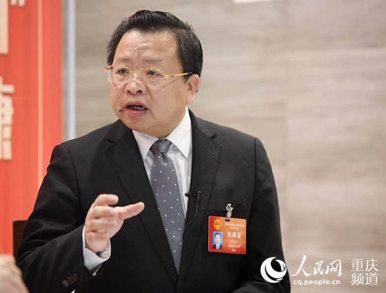 重庆市人大代表、荣昌区委书记曹清尧。邹乐 摄