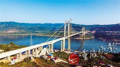 ▲驸马长江大桥 重庆高速集团供图