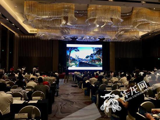 重庆市文化产业重点项目推介会现场。