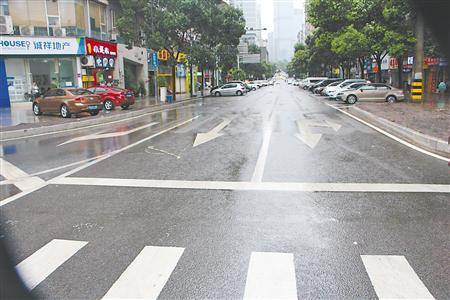 新牌坊一路单向交通组织优化后