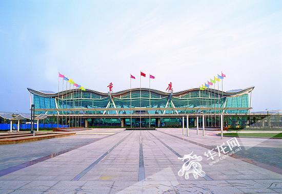 2004年12月建成投用的T2B航站楼。 重庆机场供图 华龙网发