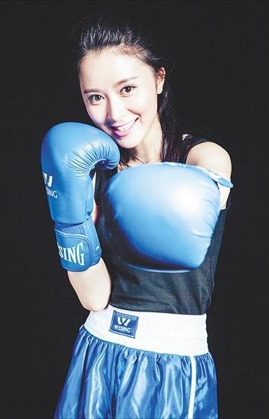 生活中的曹芯蕊是名拳击教练