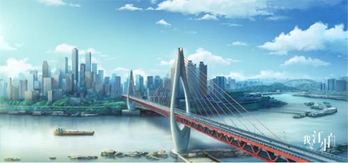 千厮门大桥出现在动漫中。片方供图