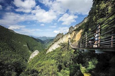 涪陵武陵山大裂谷景区(资料图片)。