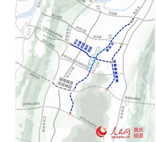 新开建的3条骨干道路。建设指挥部供图