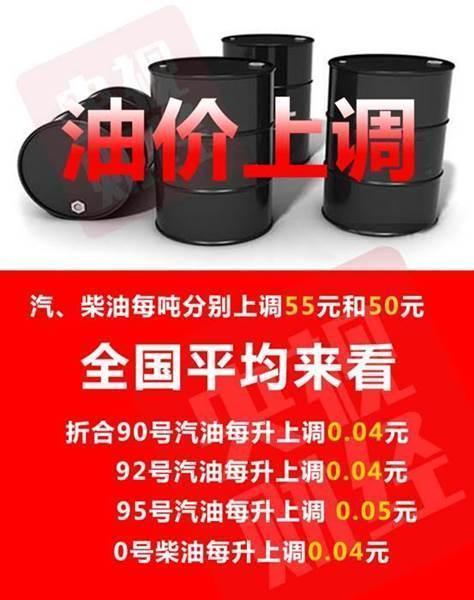 成品油年内第四涨!加满一箱油多花2元