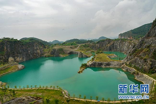图为生态修复后的渝北区铜锣山矿山遗址。新华网 韩梦霖 摄