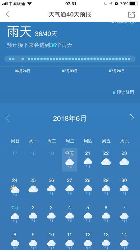 """△""""天气通""""天气预报截图"""