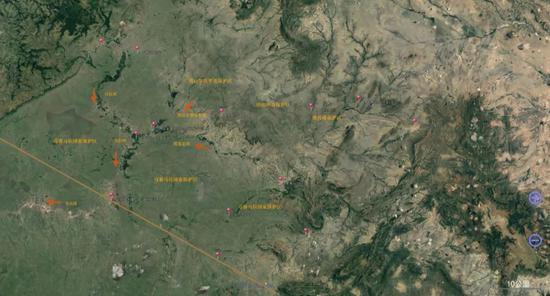 ▲星巴根据谷歌地图绘制的马赛马拉地图