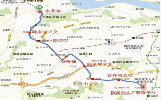 石小路公交优先道路线示意图