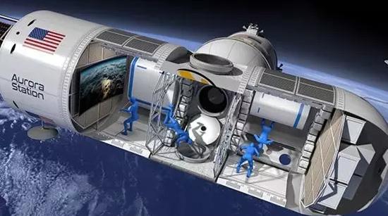 图为太空酒店内部示意图