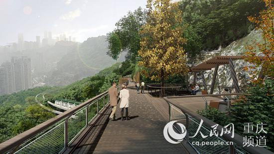 半山崖线步道效果图。重庆市住房和城乡建设委员会供图