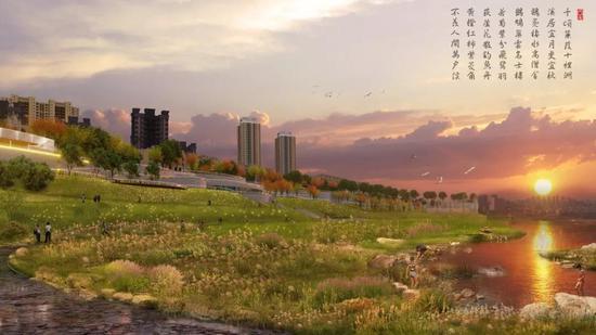 二塘滨江公园效果图