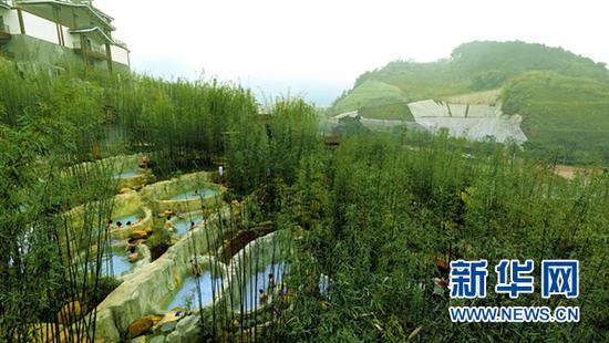 圖為重慶北碚心景溫泉。新華網發(北碚宣傳部供圖)