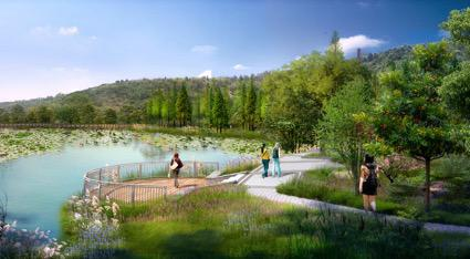 环湖步道效果图。受访者供图,华龙网发