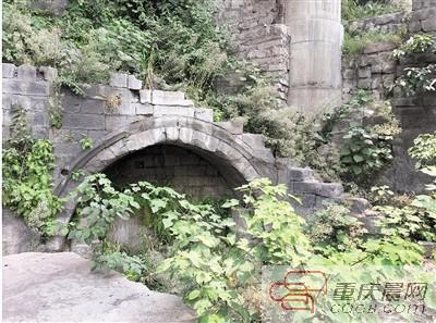 雷家坡古道遗址上的桥洞。 渝中区文管所供图