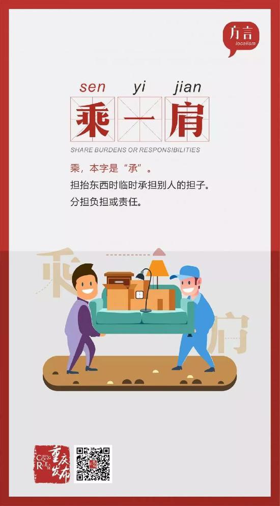 当重庆人看到他人负担重: