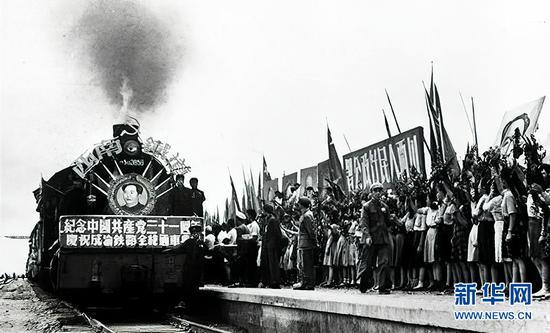 1952年7月1日,成渝铁路全线通车。新华网发(资料图)