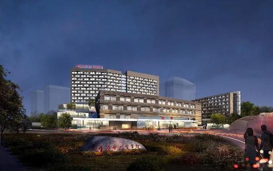 即将于2019年在两江新区亮相的重庆市人民医院新院区效果图。 院方供图 华龙网发