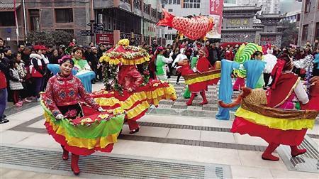 巴渝传统文化花船表演