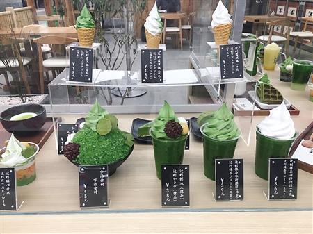 专营抹茶产品的甜品店 记者 唐小堞 摄