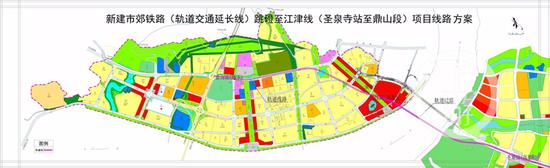 △项目方案图。江津区规划局网站图
