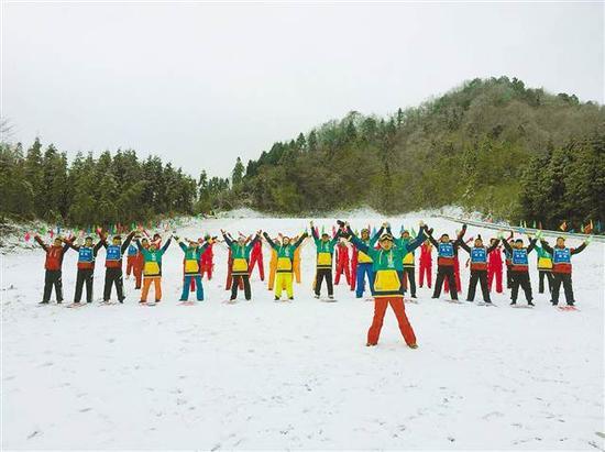 石柱冰雪旅游季启幕。(石柱旅发委供图)