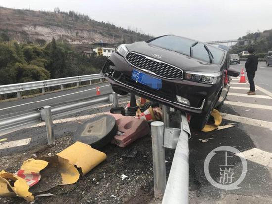 △事故现场。高速执法供图