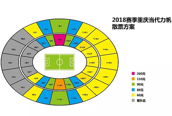 散票价格及区域分布图。俱乐部供图