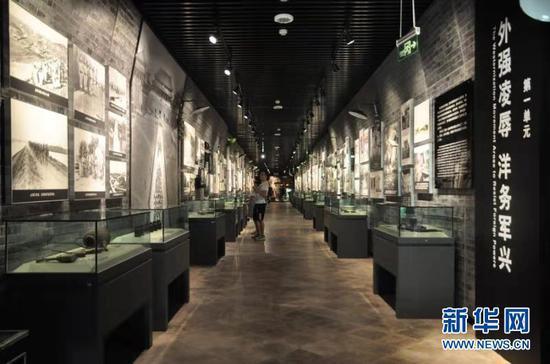 重庆建川博物馆建于24个防空洞之上。新华网发(黄嫣然 摄)