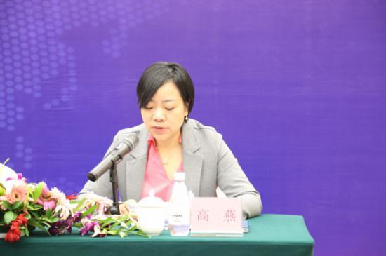 重庆沪渝国际展览有限公司总经理高燕介绍展会相关情况。主办方供图