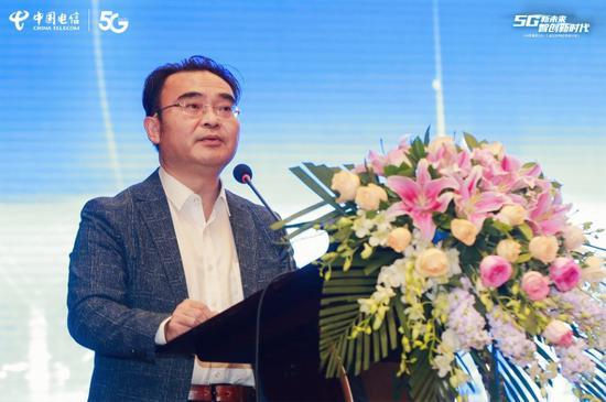 中国电信重庆公司副总经理 曹春江致辞
