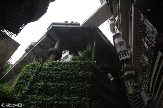 """重庆24层不带电梯""""网红""""楼:3个出口通3条街"""