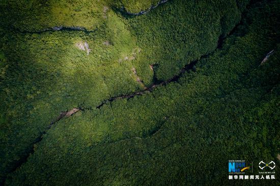 鸟瞰奉节天坑地缝 一睹千姿百态的喀斯特地貌