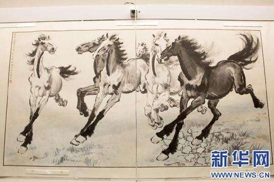 徐悲鸿抗战时期作品展在渝开展 四件国家一级文物亮相