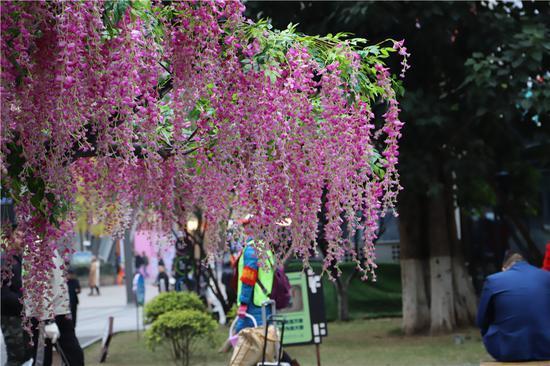 重庆迎春灯饰开建 今年夜景更漂亮