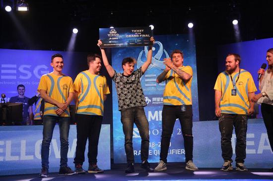 乌克兰黄队获得乌克兰赛区冠军