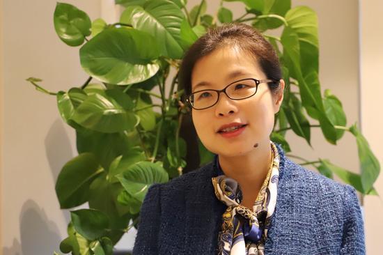 重庆市大数据应用发展管理局党组成员、副局长杨帆正在接受记者采访