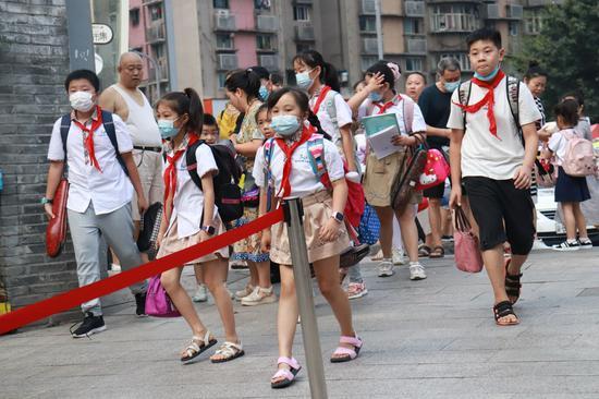 重庆中小学生返校上课 带你打探开学第一天[组图]