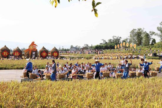 2019年中国农民丰收节长江三峡(梁平)庆祝活动。刘辉摄