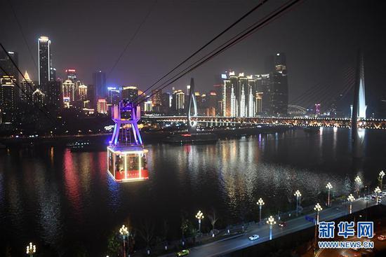 重庆网红景区长江索道重新开放 新一代轿厢投入运营