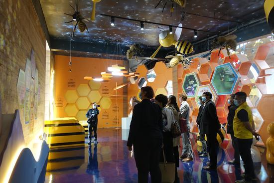 嘉宾参观中华蜜蜂科普馆