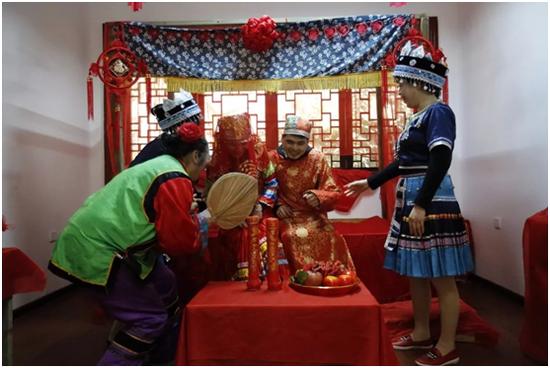 巴文化婚嫁习俗表演