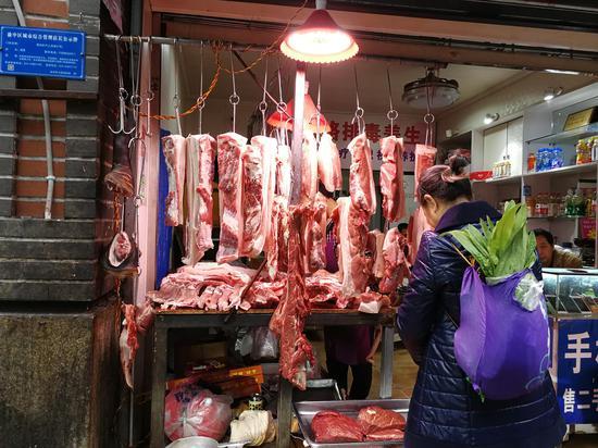 实地打探重庆猪肉价格降幅明显 排骨每斤降5元(图)