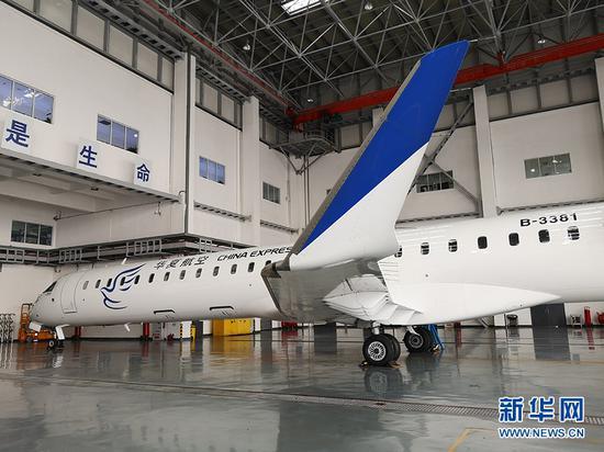 华夏飞机维修工程有限公司1月9日在重庆江北国际机场揭牌成立。新华网 王龙博 摄