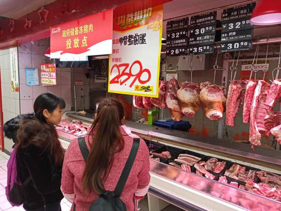 打探重庆主城投放政府储备猪肉 销售情况很好(图)