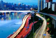 重庆两江滨江夜景