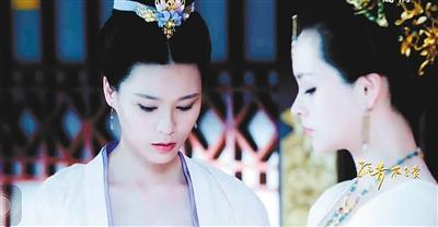 张纯嘉(左)在《孤芳不自赏》中扮演张贵妃的贴身丫鬟